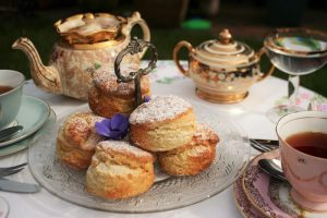 Scones and tea at Room Forty