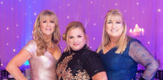 The Ambassadors' Ball - Mandy Molby, Claire Gallagher and Trudi Brooks. Photo by Diane Thompson