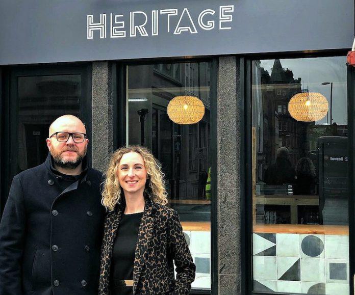 Alex and Antonia Navarro outside Heritage on Castle Street