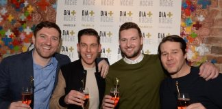 Ryan McMahon, Anton Powers, Tom Hardwick, Alex Hannah at Dia + Noche Liverpool