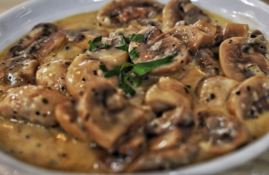 Garlic Mushrooms at Bacchus Taverna