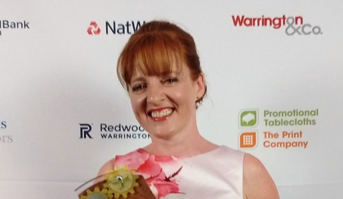 Jen Perry at the Warrington Business Awards.