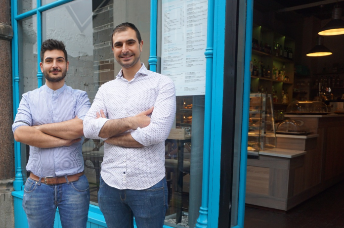 Alessio and Federico at Carlisi on Dale Street Liverpool
