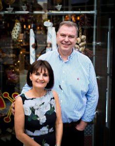Peter and Elaine Kinsella at Lunya