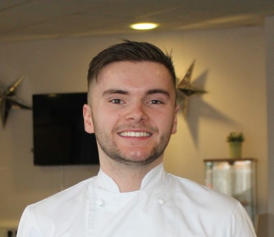 Russell Wood Warrington student working at Moor Hall